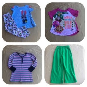 Other - 5 Pajama Items Girls 4T